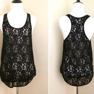 Aritzia Wilfred Madeline Lace Racerback Tank Top